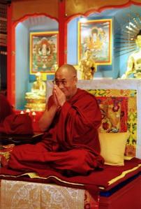 Dalai Lama in Hamburg, 1998. Foto: Jens Nagels