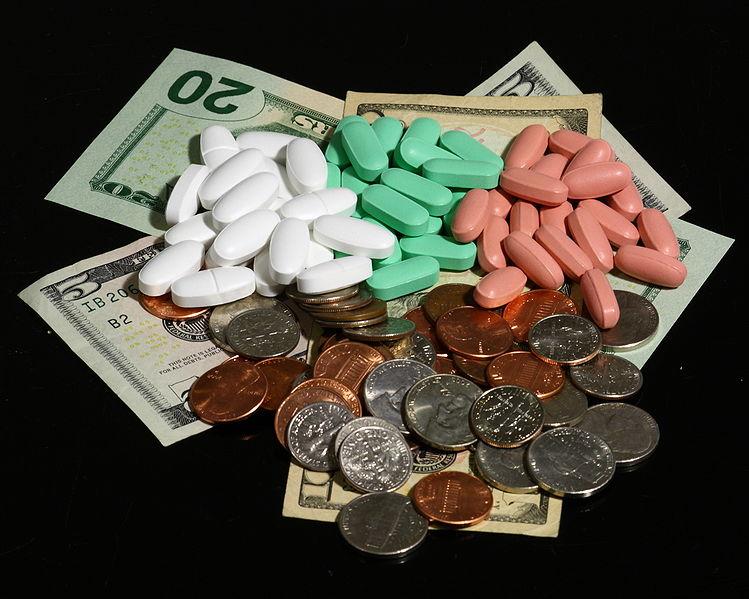 Geld und Pillen