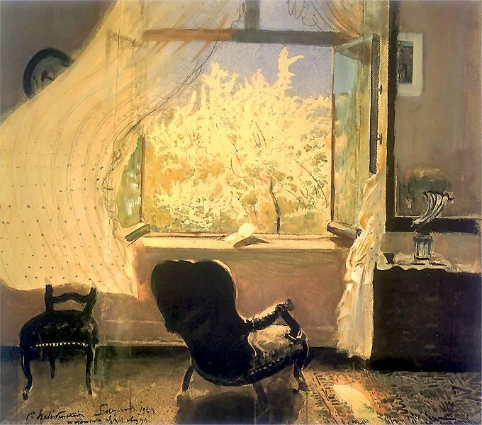 Sonntag genießen (Leon Wyczółkowski 1852-1936)