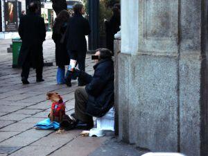 obdachlos in Mailand