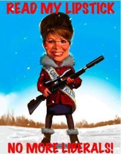 """Sarah Palin grüßt """"Die Freiheit"""""""