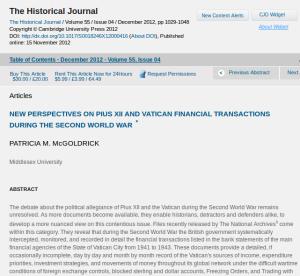 Historical Journal, Cambridge, Screenshot: brightsblog