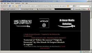 Al Ansar Media Webseite (Screenshot)