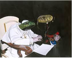 reptiloider Papst u.Kardinal Bild:katholisches.info