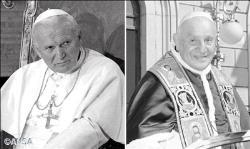 Johannes Paul II (li.), Johannes XXIII (re.). (Bild: Vatikan)