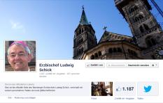FB-Seite des  Bamberger Bishcofs Schick. Screenshot: BB