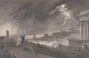 """""""Die siebente Plage"""" von John Martin, 1828 (Public Domain)"""