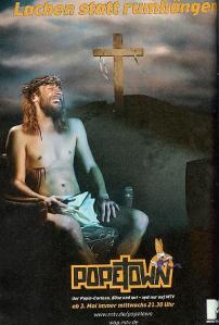 """Mit dieser Jesus-Parodie warb MTV 2006 für seine Serie """"Popetown"""" MTV"""