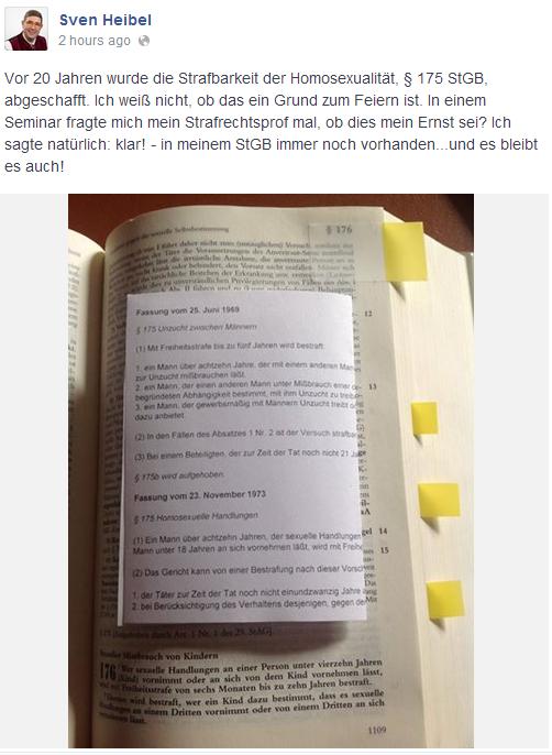Screenshot Volker Beck/FB