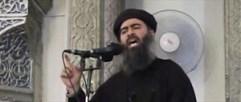 """foto: ap/militant video Abu Bakr al-Baghdadi alias Kalif Ibrahim (Videoaufnahme einer Predigt) ist der Anführer der Gruppe """"Islamischer Staat"""""""
