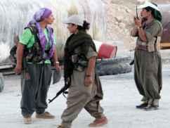 Kurden-Kämpferinnen, Bild: FOCUS ONLINE/bearb.BB