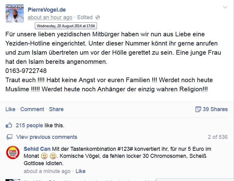 Screenshot BB/Facebook