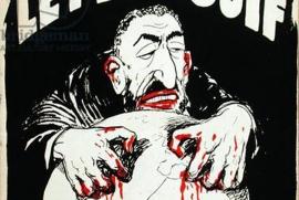 Buchdeckel (Ausschnitt) einer antisemitischen Schrift, die 1940 in Frankreich unter der Naziherrschaft erschien. Bild: www.bridgemanart.com