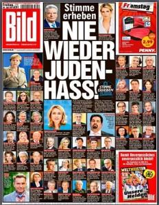 """""""Nie wieder Judenhass"""" – Bild-Zeitung im Juli 2014"""