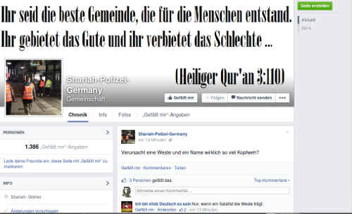 Als Gruppe bei Facebook. Screenshot: BB