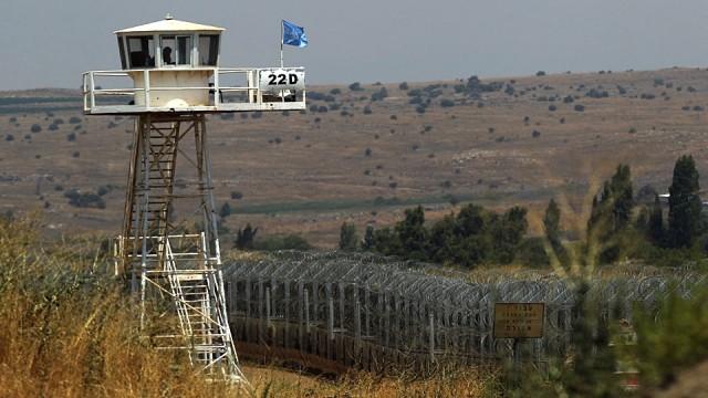 UN-Posten in Syrien, Golan Höhen. Bild: RF
