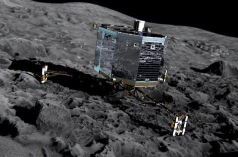 Photo credit: ESA/ATG. Artist's impression of Philae