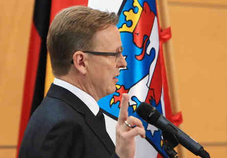 Bodo Ramelow bei der Vereidigung im Thüringer Landtag. Bild: FrankSchwarz/Facebook