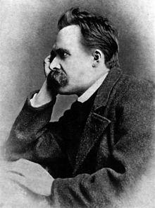 Friedrich Nietzsche, 1882 (Photographie von Gustav Adolf Schultze) PD