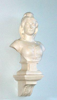 Marianne-Büste mit phrygischer Mütze in einer französischen Schule. Bild: PD