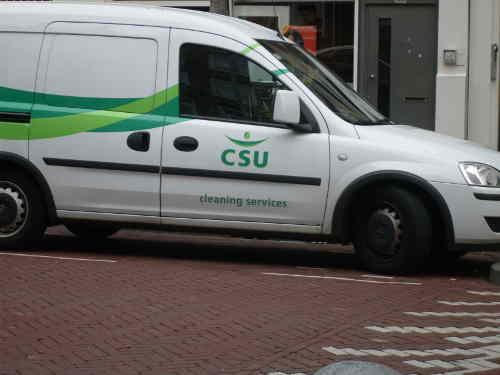 Auch das ist CSU, ne Putzfirma in Holland. Bild. BB