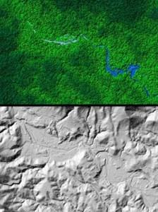 illu.: university of houston Mitten im Regenwald im unberührten Norden von Honduras entdeckten Forscher die legendäre Ciudad Blanca. Erste Hinweise darauf ergaben bereits Luftaufnahmen im Jahr 2012.