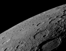MESSENGER image of Mercury. Credit: NASA/JHU/AP​L/CIW
