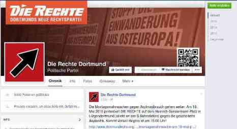 FB-Seite. Screenshot: bb