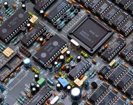 Hauptplatine eines Rechners.