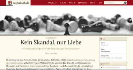 Bild: katholisch.de, Screenshot: bb