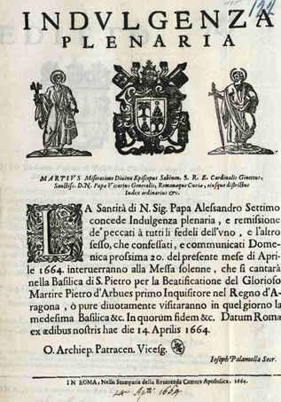 Ein vollkommener Ablass: historisches Dokument. Bild: Radio Vatikan