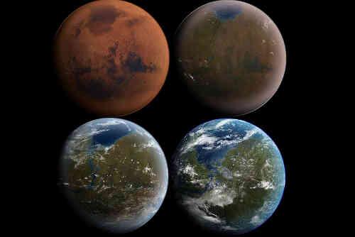 erraformed Mars, artist's conception. Image: Daein Ballard/Wikimedia Commons