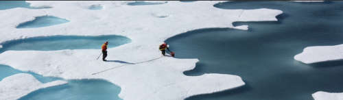 Scientists study melting ice sheets. Image: NASA/Goddard