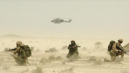 Britische Soldaten im Irak-Krieg 2003. Themenbild