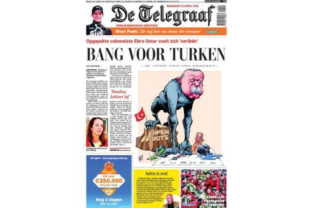 """Die Titelseite von """"De Telegraaf"""" mit der Erdogan-KarikaturFoto: De Telegraaf"""