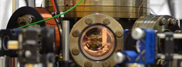 View of the vacuum chamber containing the atom trap. Image: AG QUANTUM