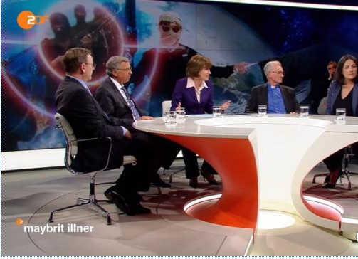 Die Talkrunde bei Maybrit Illner. Bild: ZDF