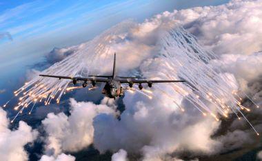 """Eine U.S. Air Force AC-130U """"Spooky"""" Gunship des 4th Special Operations Squadron. Bild: USAF"""