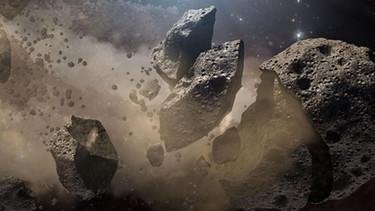 Meteoriten, kosmische Geschosse. Bild: BR.de