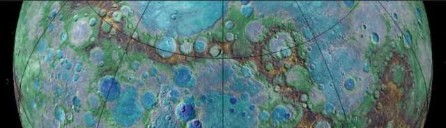 Topography of Mercury's northern hemisphere. Image: NASA/JHUAPL/Carnegie Institution of Washington/USGS/Arizona State University