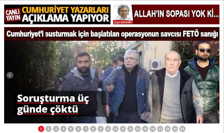 HP von Cumhuriyet.tr. Screenshot: bb