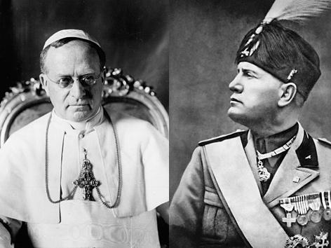 Pius XI. und Mussolini. AP; AFP/picturedesk.com (Montage)