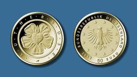 Bedford Strohm Und Söder Präsentieren 100 Euro Luther Goldmünze