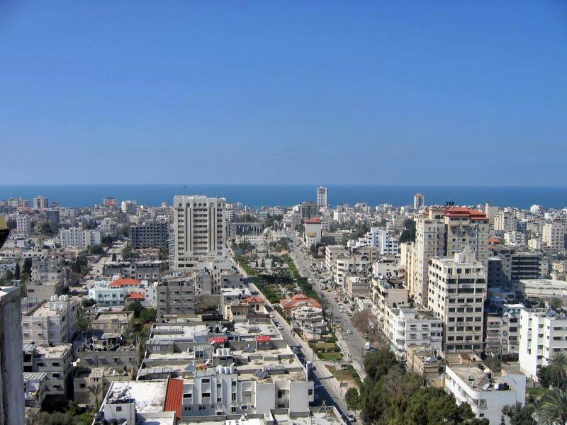 Blick über Gaza