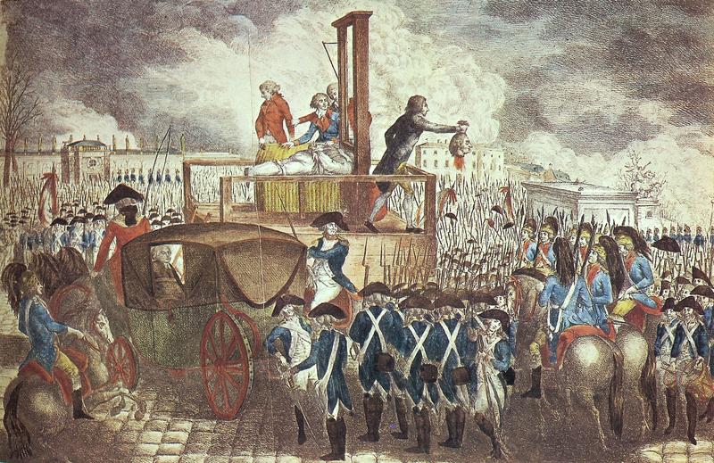 Hinrichtung Ludwigs XVI. (Kupferstich aus dem Jahr 1793)