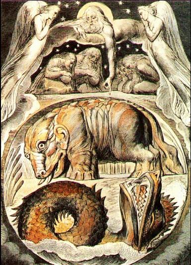 Behemoth and Leviathan von William Blake (zwischen 1757 und 1827)