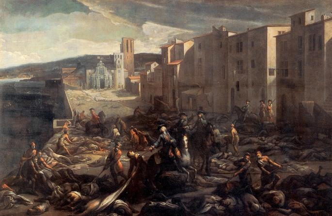 1720: Die Pest in Marseille. Gemeinfrei