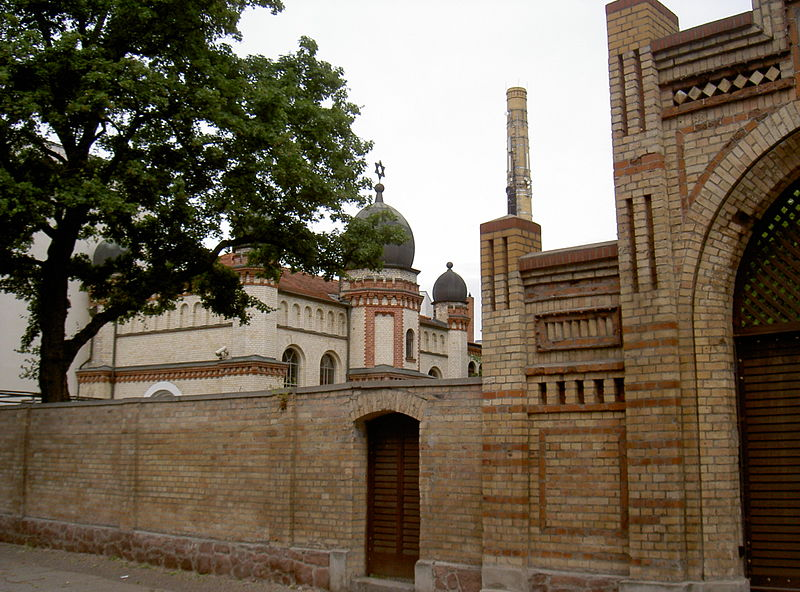 Synagoge in Halle (Saale). Bild: Alex Koch, CC BY-SA 4.0