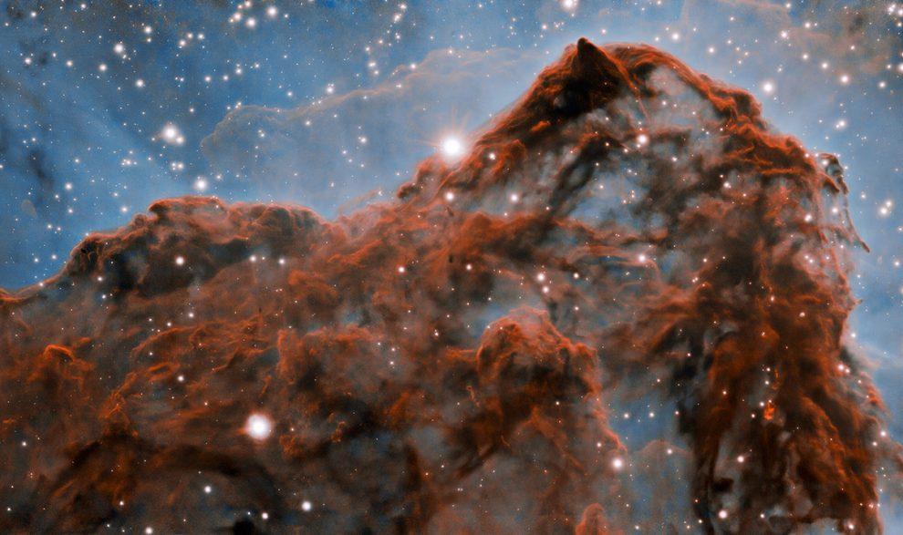 Blick auf den Westteil des Carinanebels. International Gemini Observatory/ NOIRLab/ NSF/AURA