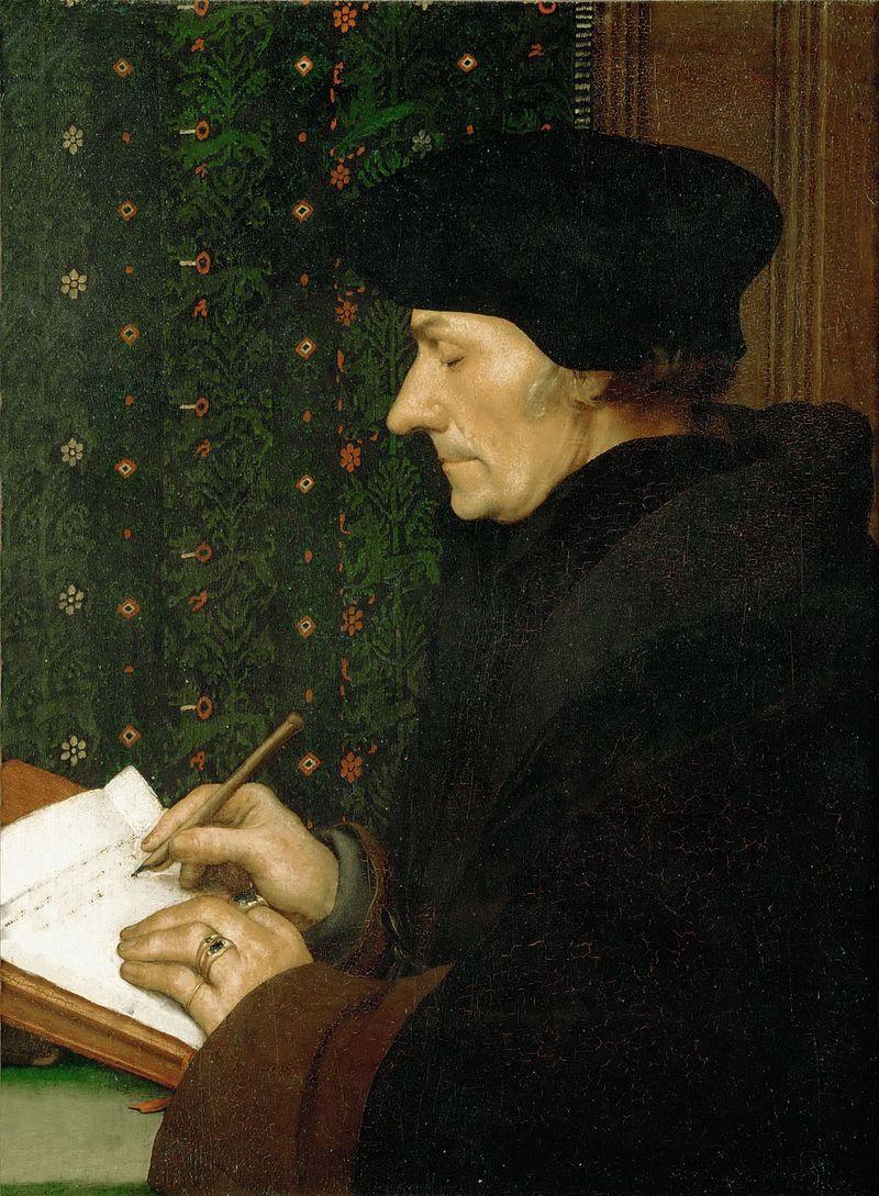 Erasmus porträtiert von Hans Holbein dem Jüngeren (1523)